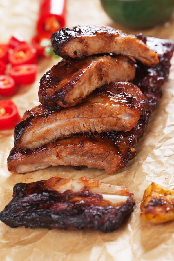 Miód wieprzowiny oszkleni ziobro zdjęcia stock