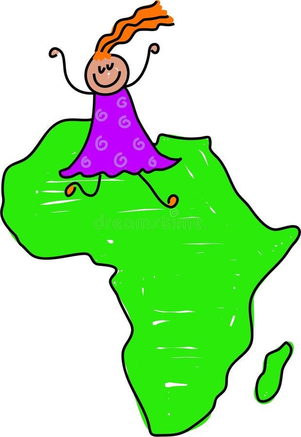 Miúdo africano ilustração do vetor