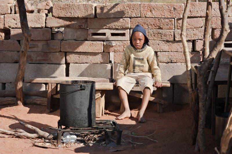 Miúdo africano deficiente fotografia de stock royalty free