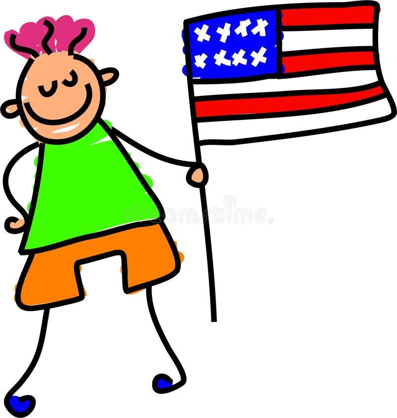 Miúdo americano ilustração do vetor