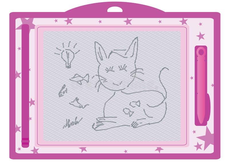 Miúdo Board_eps desenhando apagável ilustração do vetor