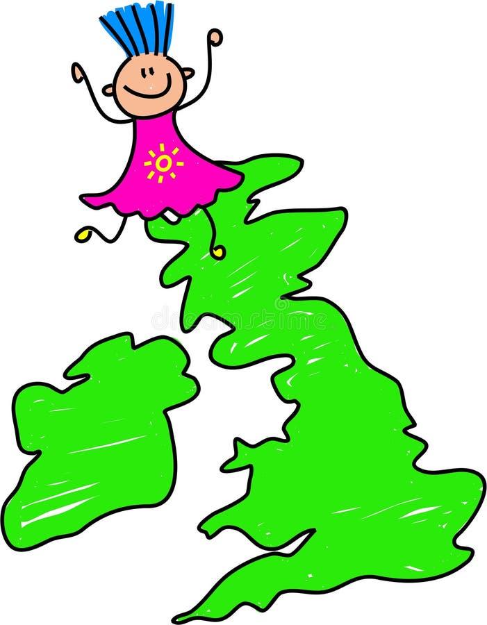 Miúdo britânico ilustração do vetor