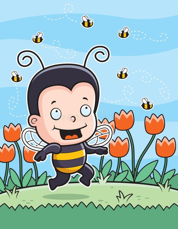 Miúdo da abelha ilustração royalty free