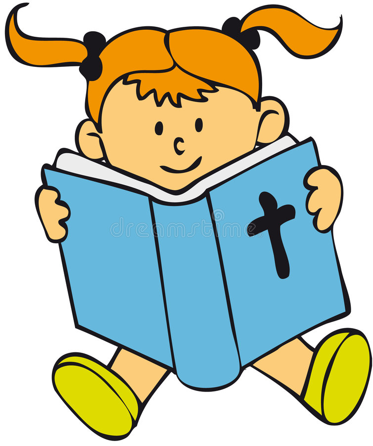 Miúdo da Bíblia - menina ilustração do vetor