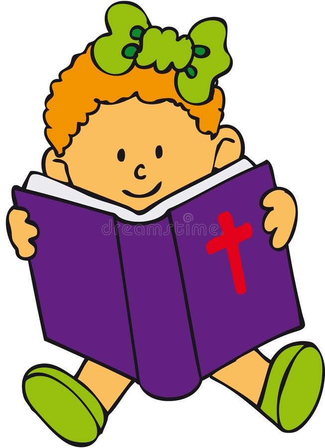 Miúdo da Bíblia - menina ilustração stock