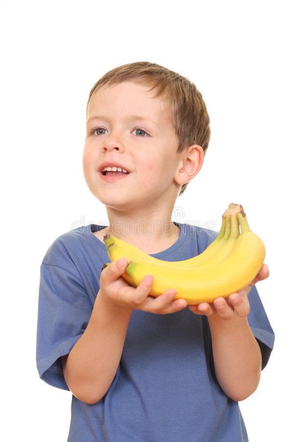 Miúdo da banana fotografia de stock royalty free