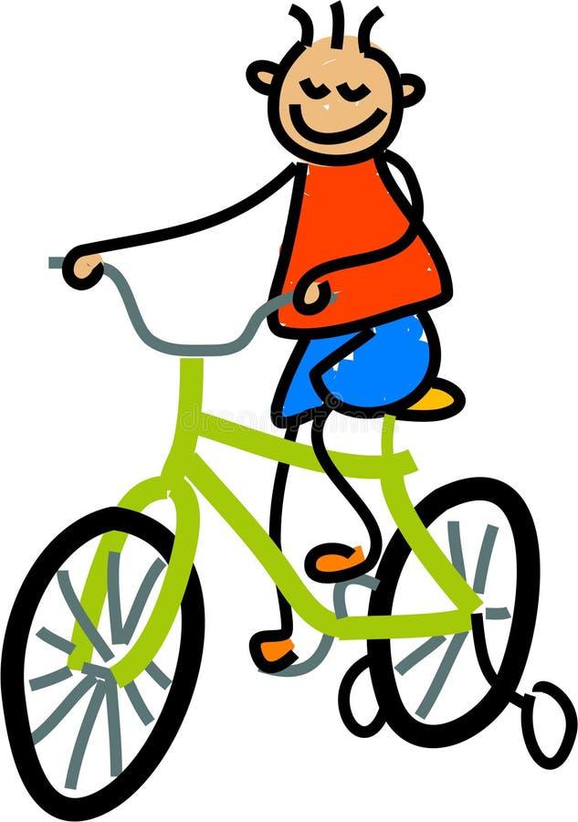 Miúdo da bicicleta ilustração do vetor