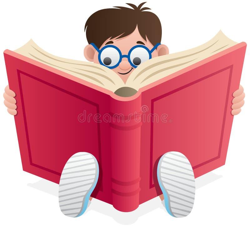 Miúdo da leitura ilustração royalty free