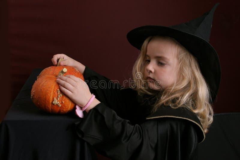Miúdo de Halloween fotos de stock royalty free