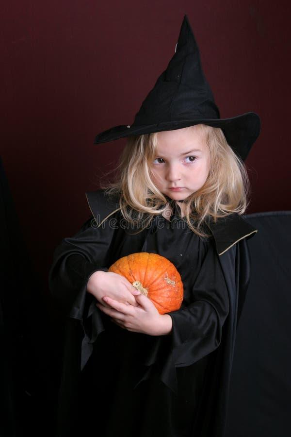 Miúdo de Halloween foto de stock