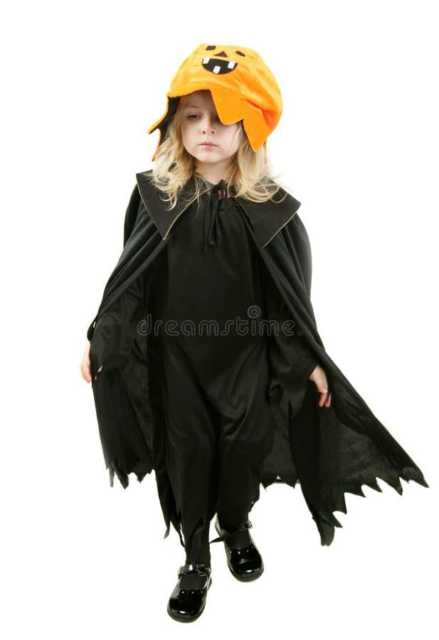 Miúdo de Halloween imagem de stock