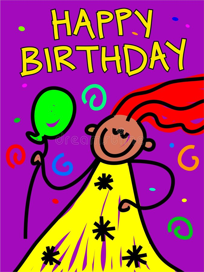 Miúdo do aniversário ilustração royalty free