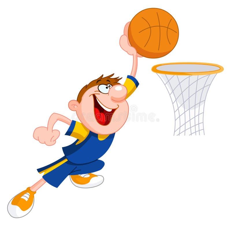 Miúdo do basquetebol ilustração stock
