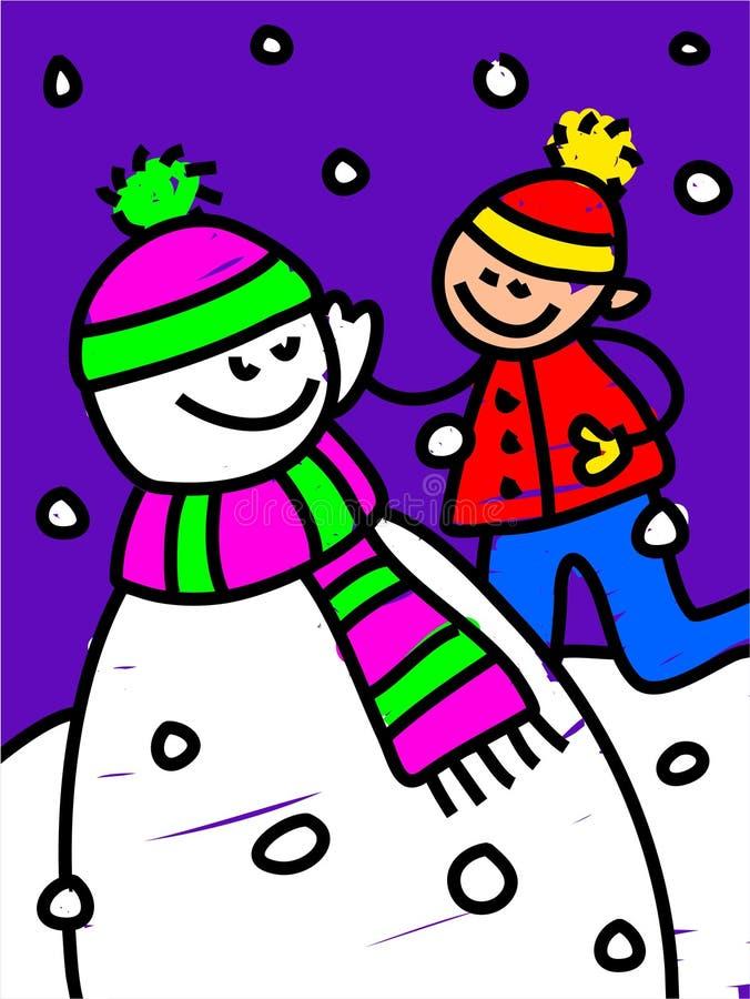 Miúdo do boneco de neve ilustração do vetor