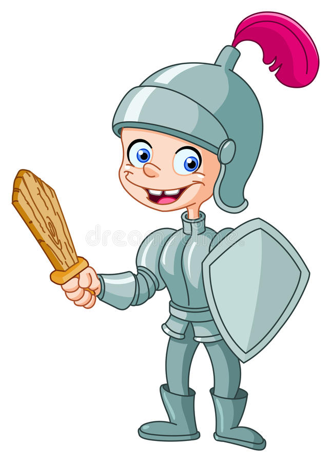 Miúdo do cavaleiro ilustração royalty free