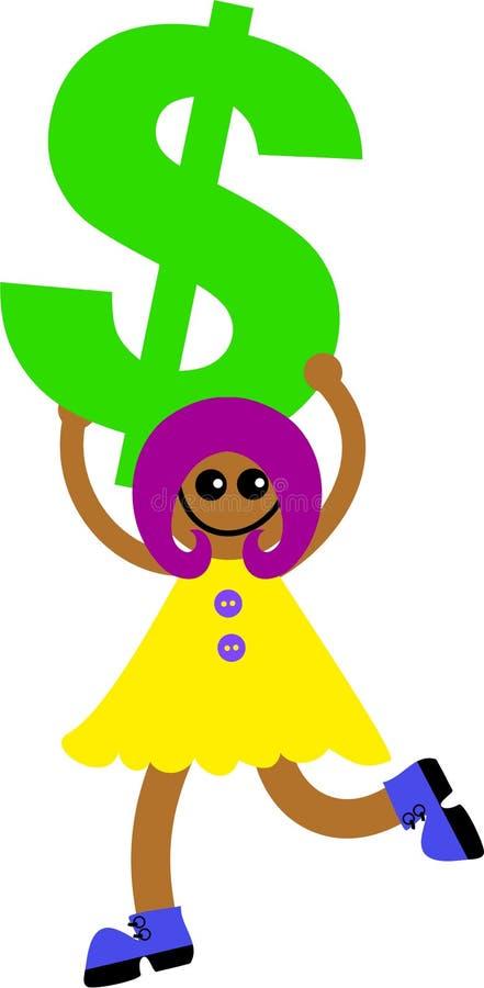 Miúdo do dólar ilustração royalty free
