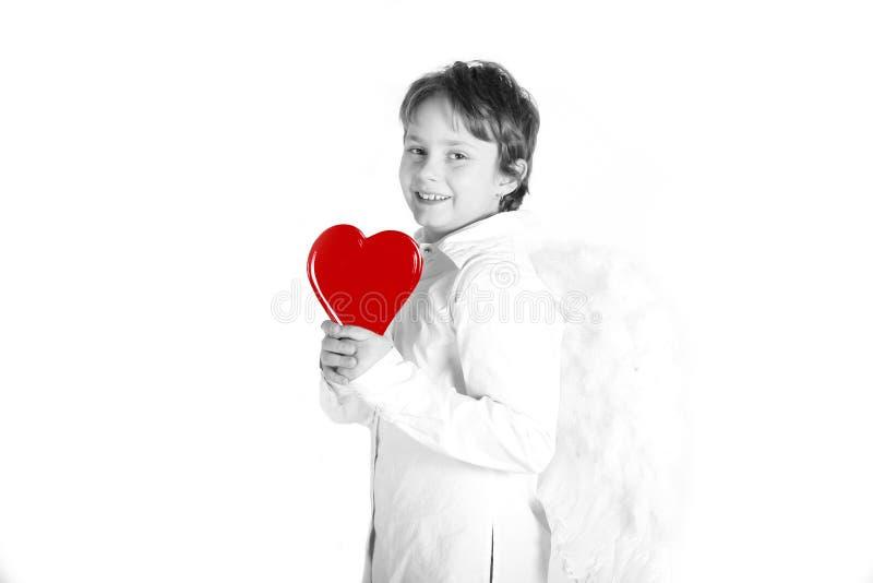 Miúdo do dia dos Valentim imagens de stock royalty free