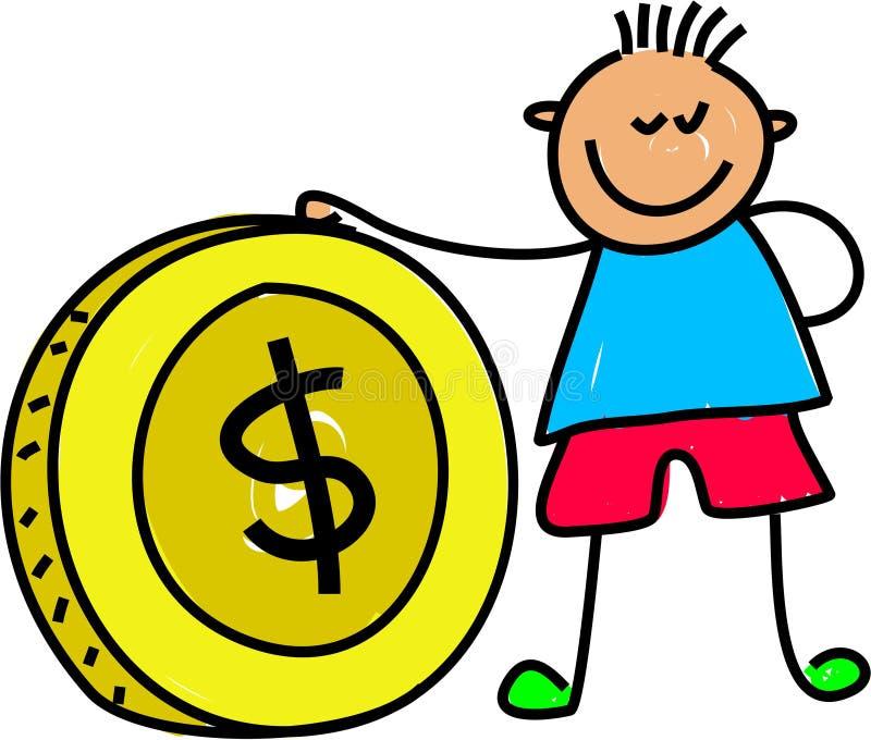 Miúdo do dinheiro ilustração stock
