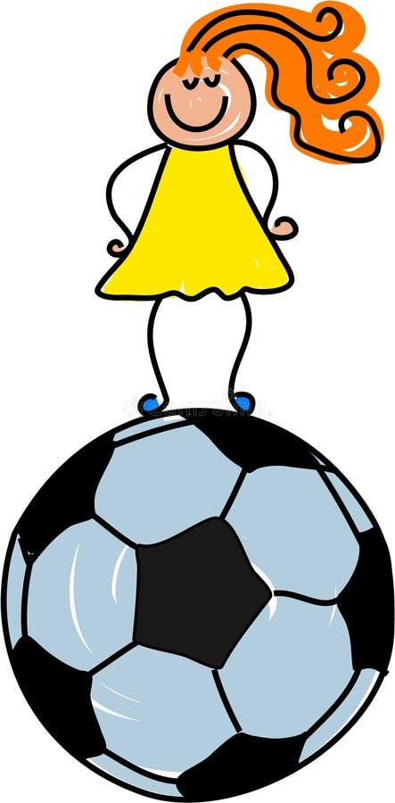 Miúdo do futebol ilustração do vetor