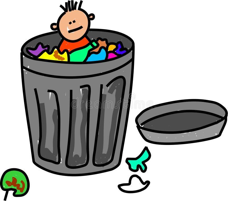 Miúdo do lixo ilustração royalty free