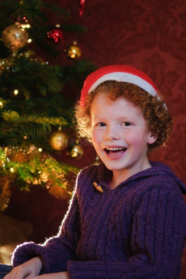 Miúdo do Natal feliz imagens de stock