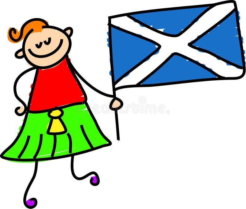 Miúdo escocês ilustração royalty free