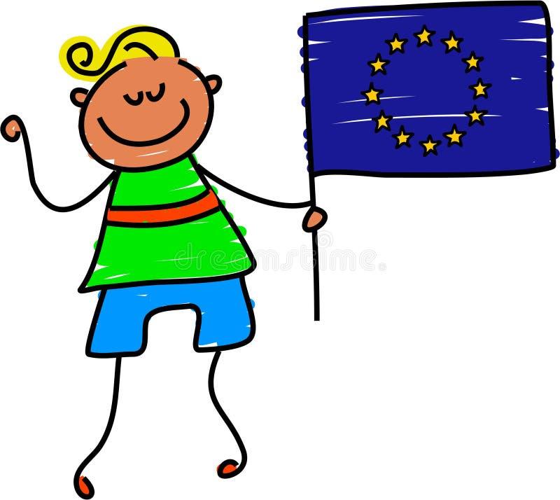 Miúdo europeu ilustração stock