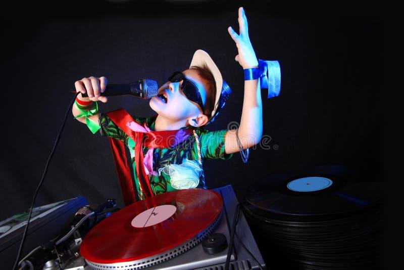 Miúdo fresco DJ foto de stock royalty free