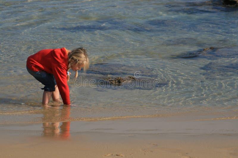 Miúdo na água imagens de stock