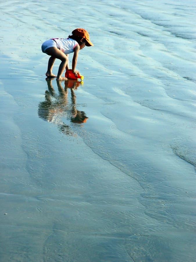Download Miúdo na praia foto de stock. Imagem de ensolarado, desengate - 50556