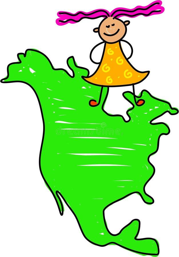 Miúdo norte-americano ilustração stock