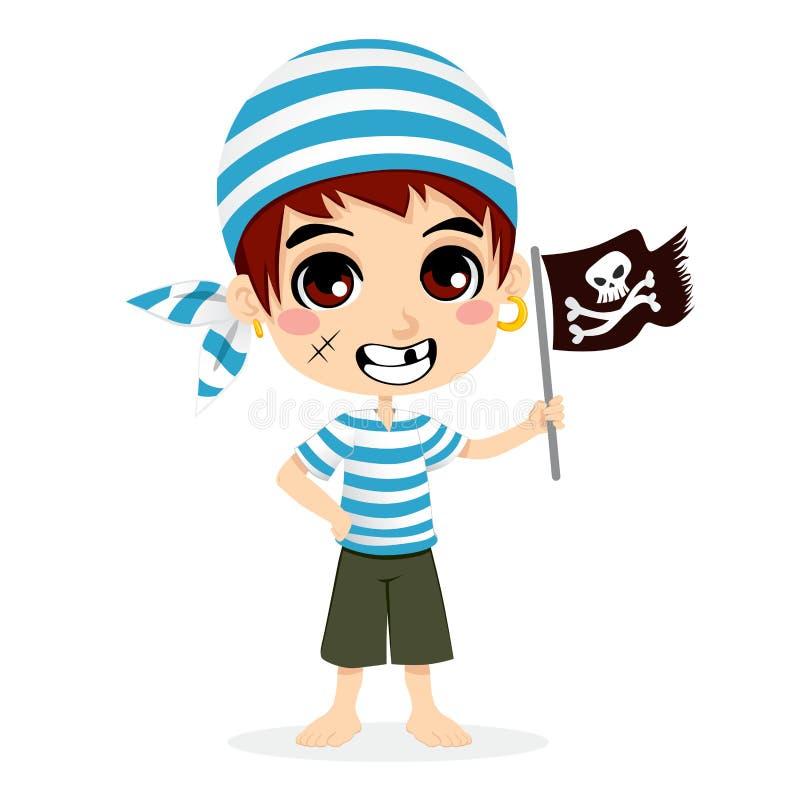 Miúdo pequeno do pirata ilustração stock