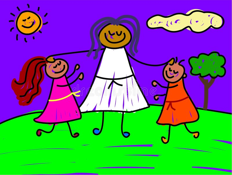 Miúdos abençoados ilustração do vetor