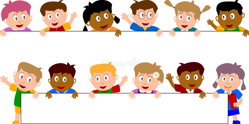 Miúdos & bandeira [5] ilustração royalty free