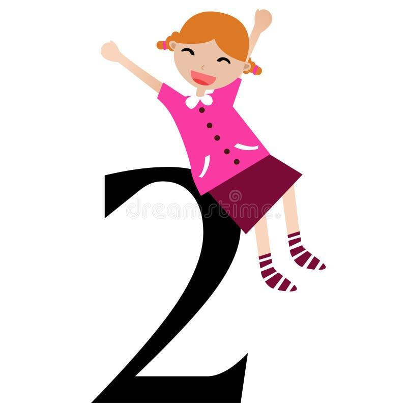 Miúdos & série -2 dos números ilustração do vetor