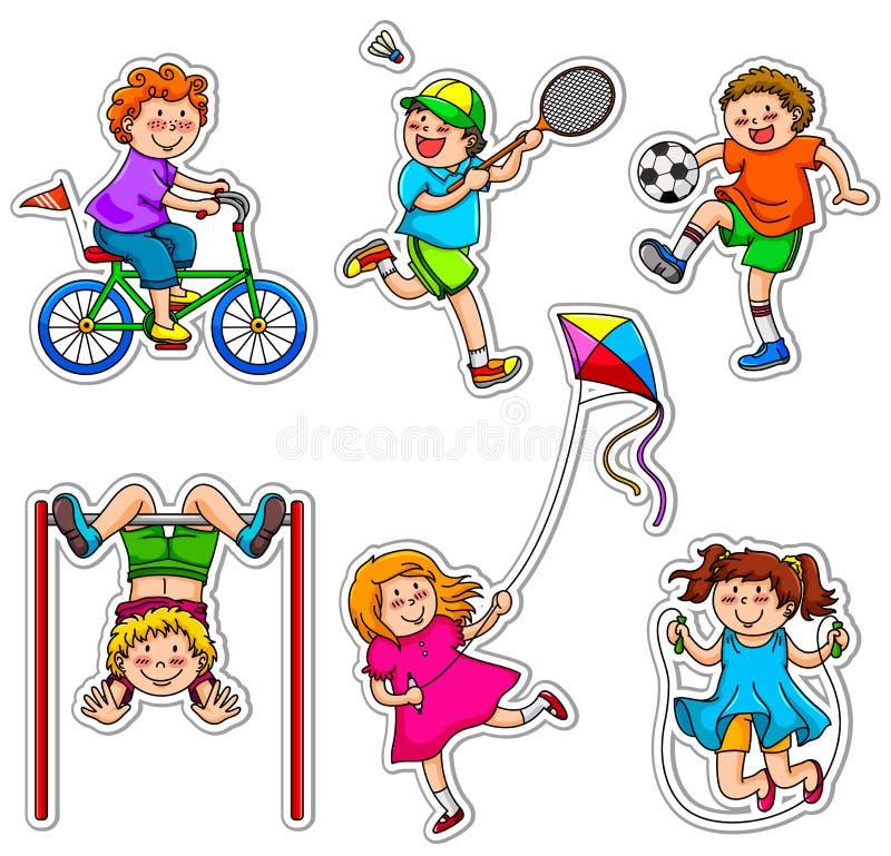 Miúdos ativos ilustração stock