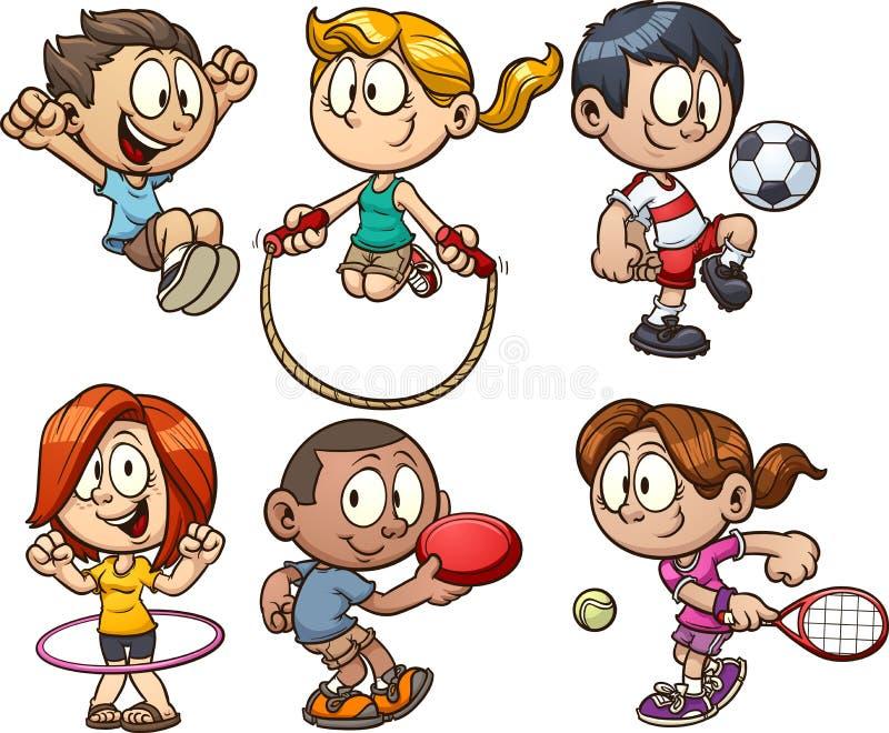 Miúdos com placa ilustração stock