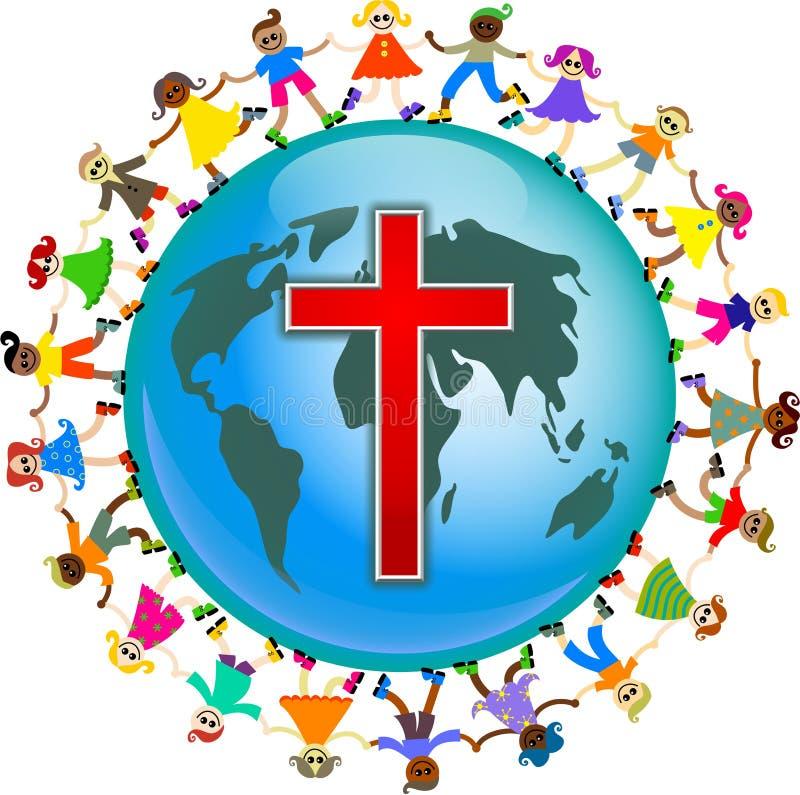 Miúdos cristãos ilustração royalty free