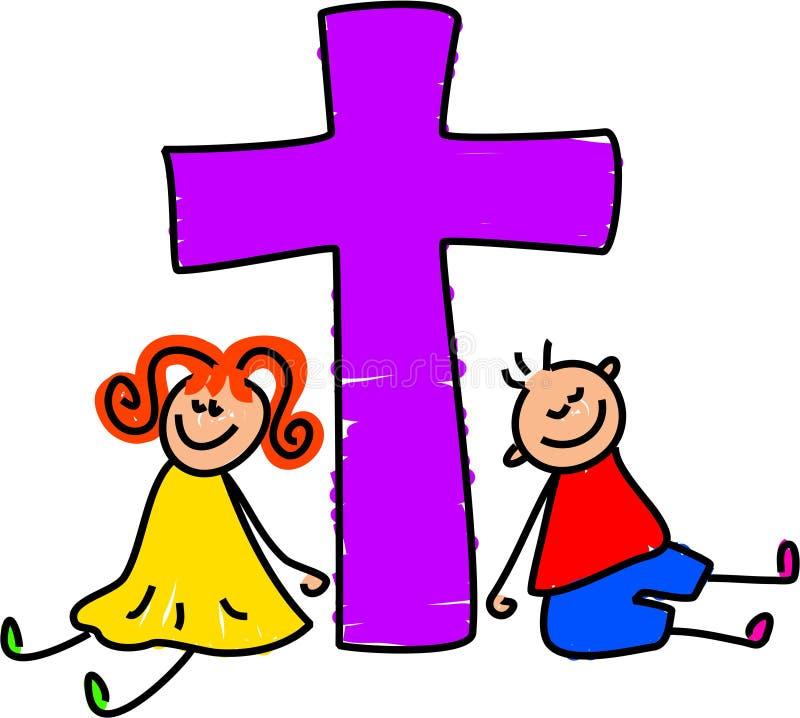 Miúdos cristãos ilustração stock