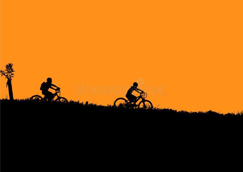 Miúdos da bicicleta ilustração royalty free