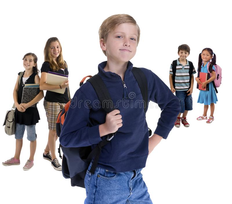 Miúdos da escola fotografia de stock royalty free
