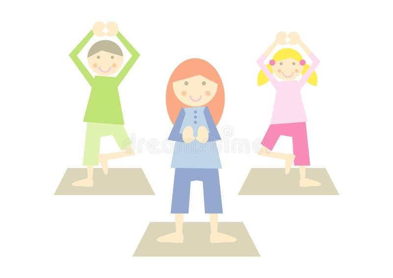 Miúdos da ioga (iv) ilustração do vetor