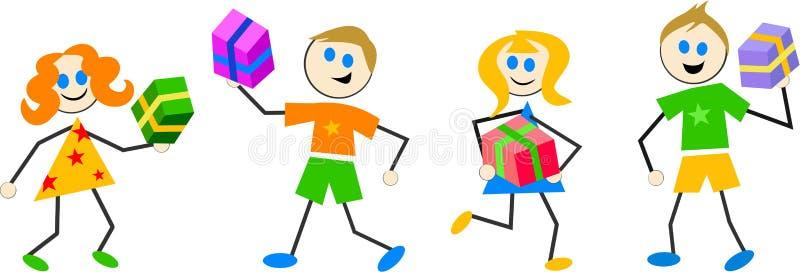 Miúdos de Giftbox ilustração do vetor