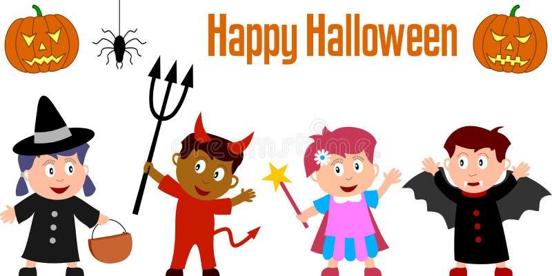 Miúdos de Halloween ilustração royalty free