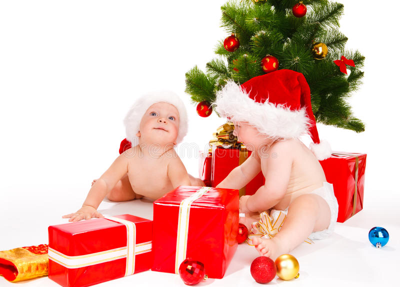 Miúdos de Santa imagens de stock