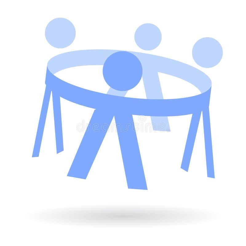 Miúdos do círculo no logotipo em conjunto ilustração do vetor