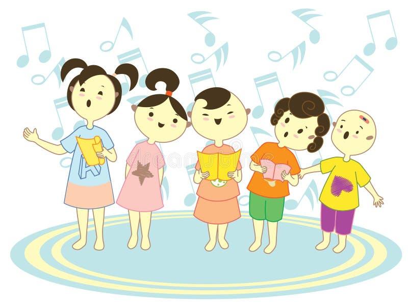 Miúdos do coro ilustração do vetor
