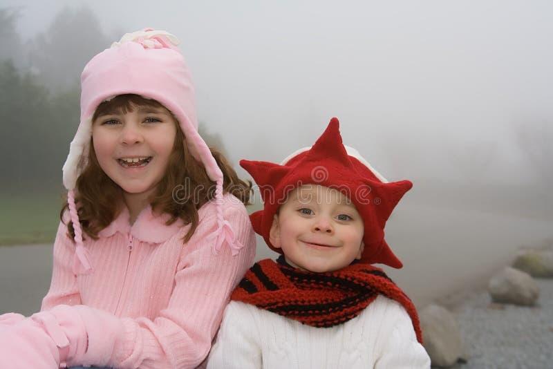 Miúdos do Natal fotografia de stock