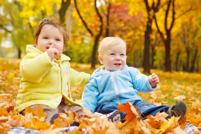 Miúdos do outono foto de stock