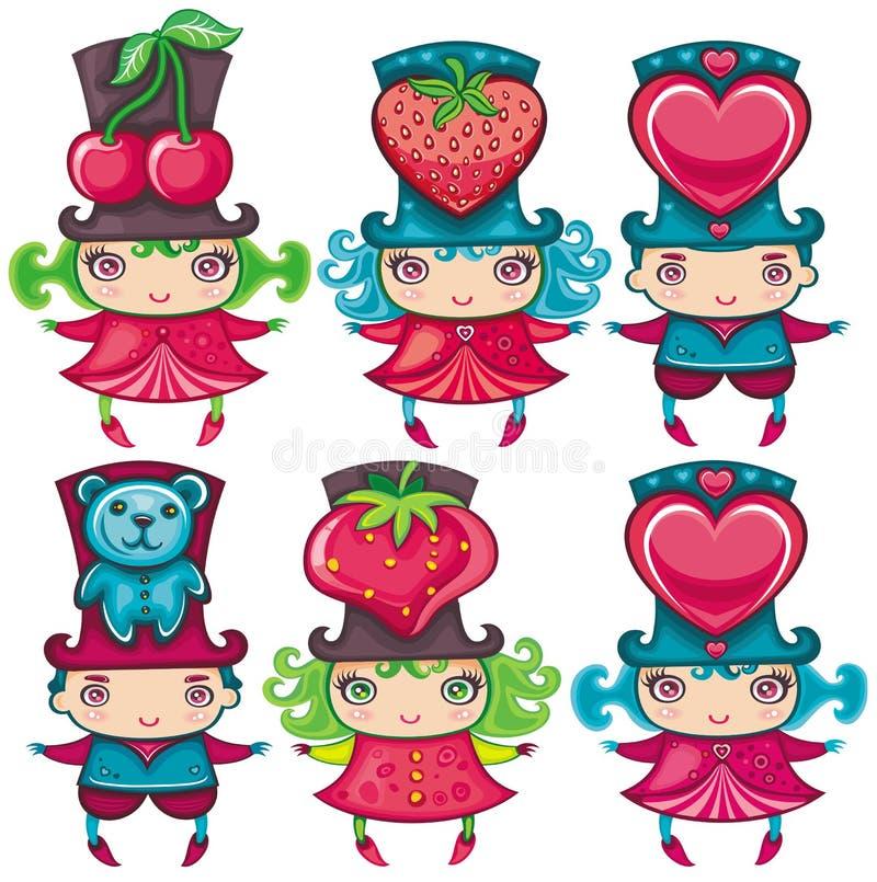 Download Miúdos do Valentim ilustração do vetor. Ilustração de pares - 12802056
